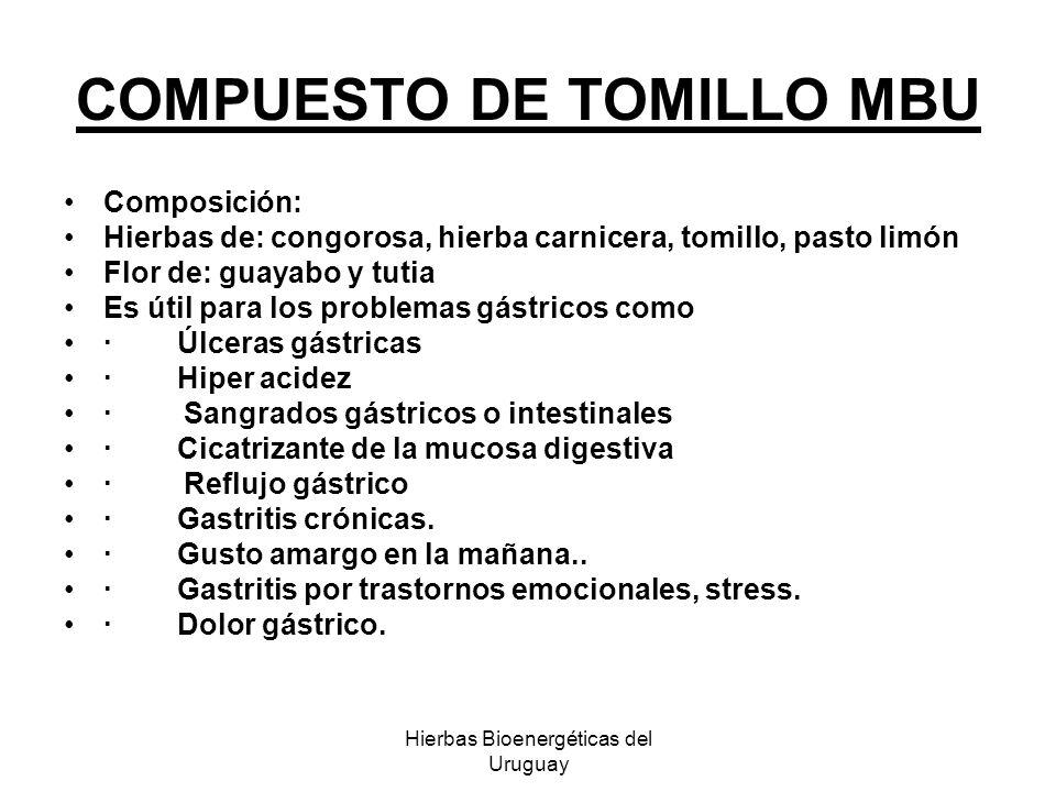 COMPUESTO DE TOMILLO MBU