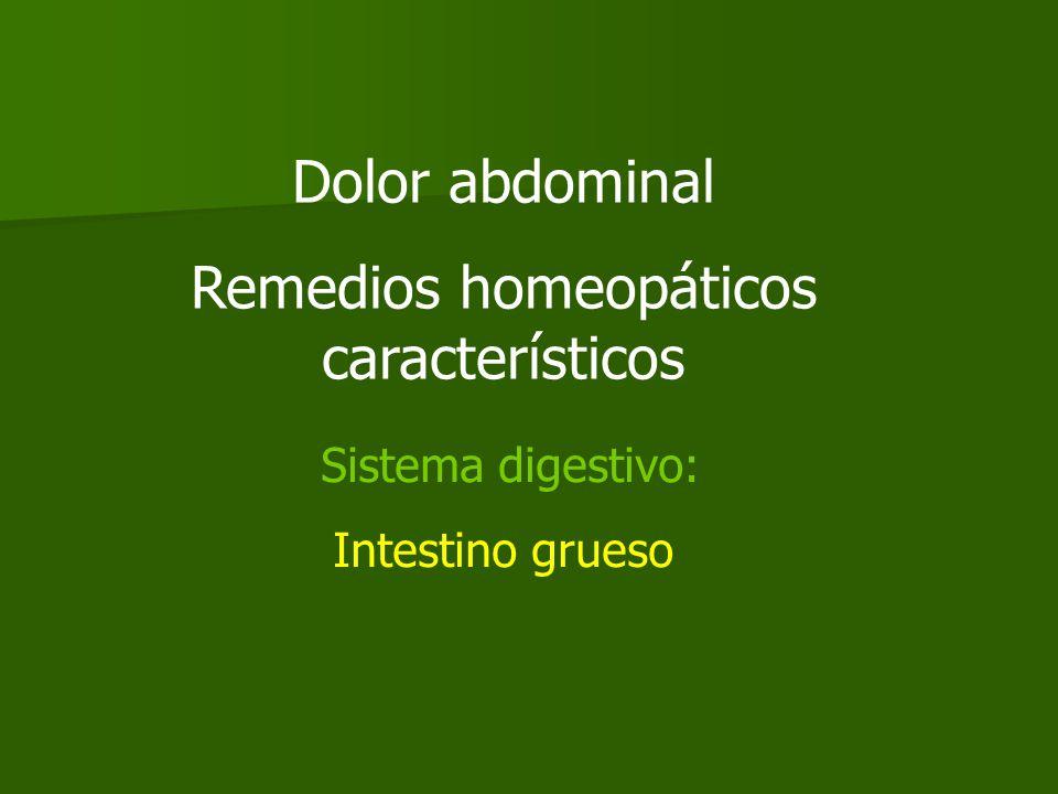 Remedios homeopáticos característicos