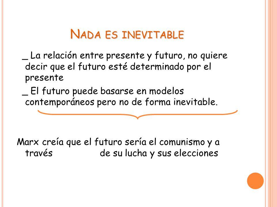 Nada es inevitable