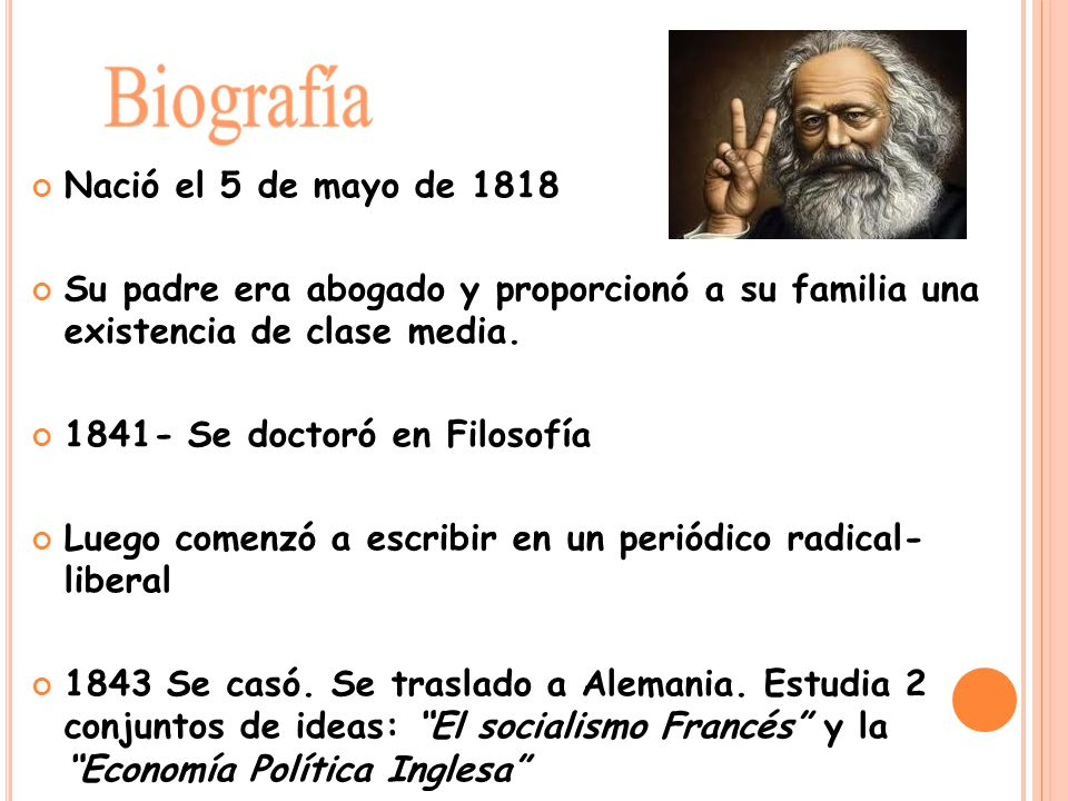 Biografía Nació el 5 de mayo de 1818