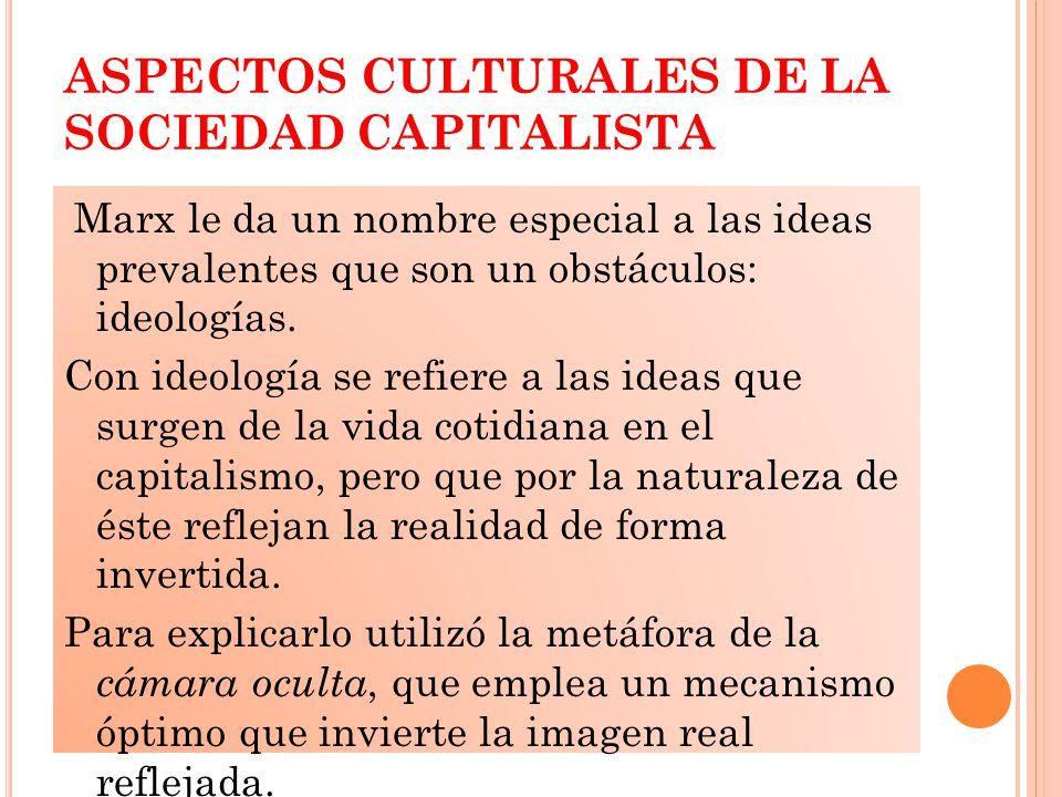 ASPECTOS CULTURALES DE LA SOCIEDAD CAPITALISTA