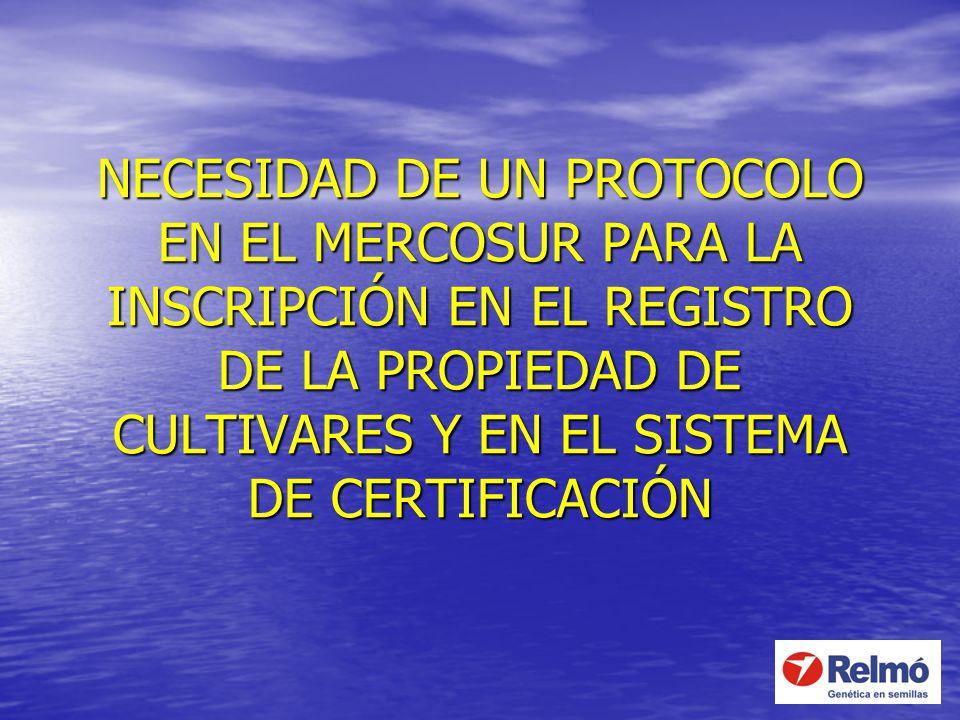 NECESIDAD DE UN PROTOCOLO EN EL MERCOSUR PARA LA INSCRIPCIÓN EN EL REGISTRO DE LA PROPIEDAD DE CULTIVARES Y EN EL SISTEMA DE CERTIFICACIÓN