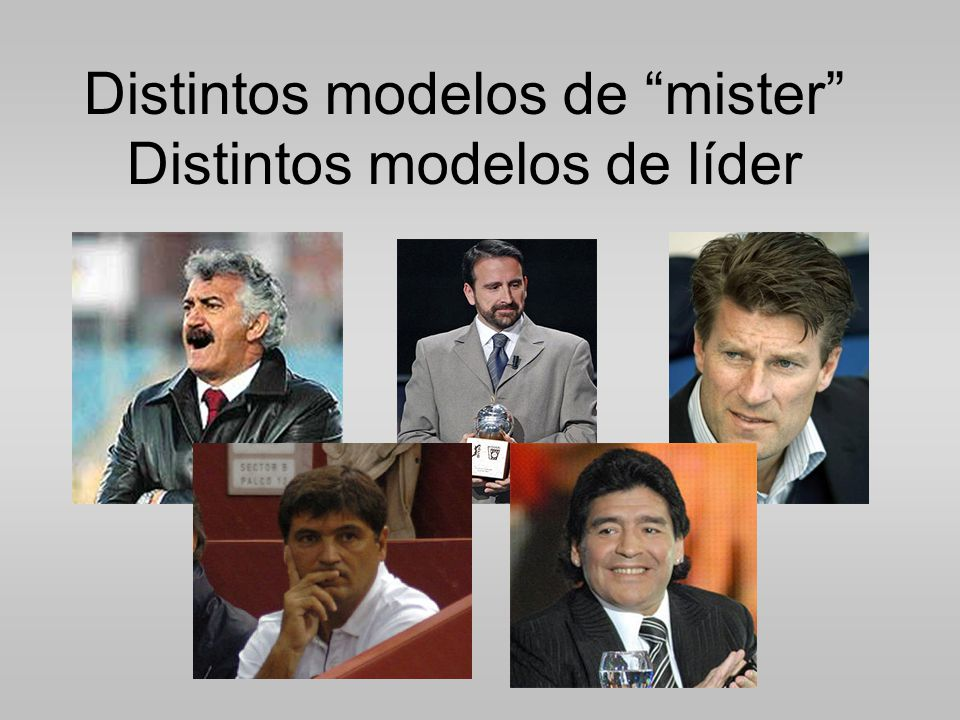 Distintos modelos de mister Distintos modelos de líder