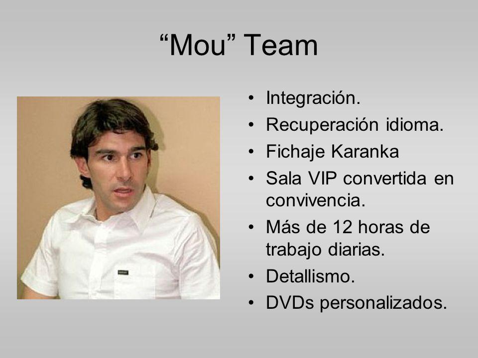 Mou Team Integración. Recuperación idioma. Fichaje Karanka