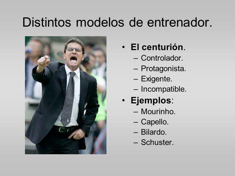 Distintos modelos de entrenador.