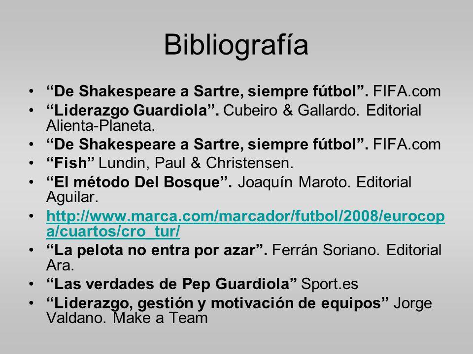 Bibliografía De Shakespeare a Sartre, siempre fútbol . FIFA.com