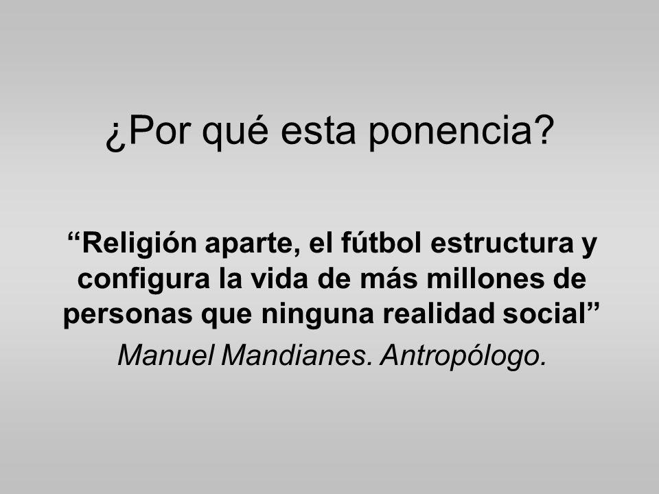 Manuel Mandianes. Antropólogo.