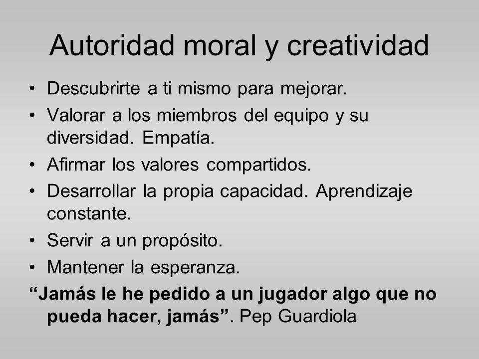 Autoridad moral y creatividad
