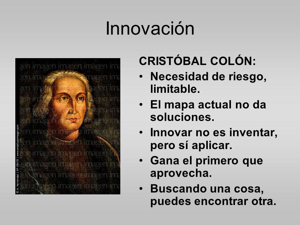 Innovación CRISTÓBAL COLÓN: Necesidad de riesgo, limitable.