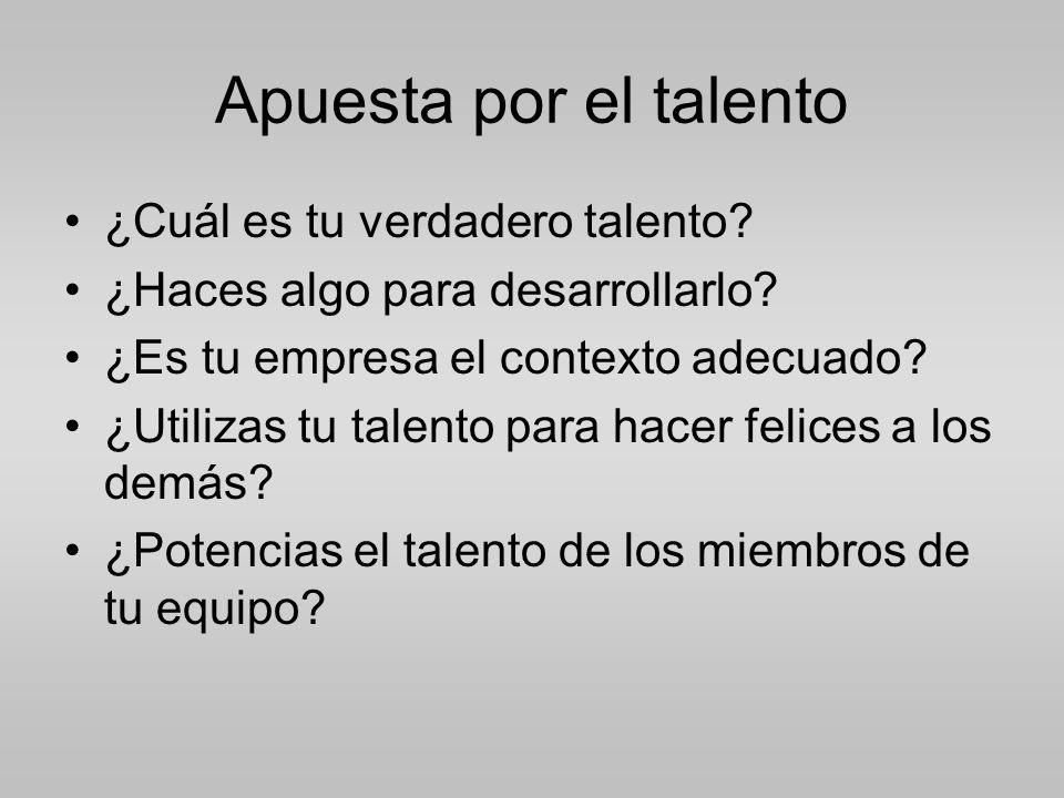 Apuesta por el talento ¿Cuál es tu verdadero talento