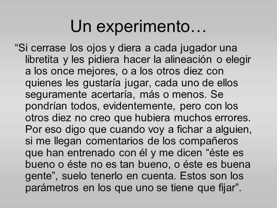 Un experimento…