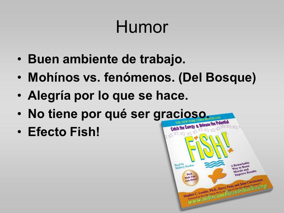 Humor Buen ambiente de trabajo. Mohínos vs. fenómenos. (Del Bosque)