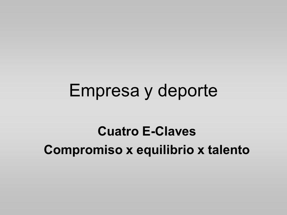 Cuatro E-Claves Compromiso x equilibrio x talento