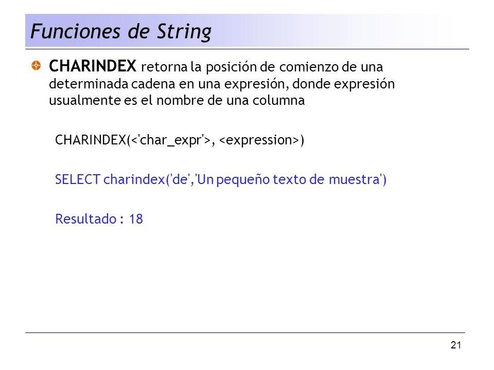 Funciones de String