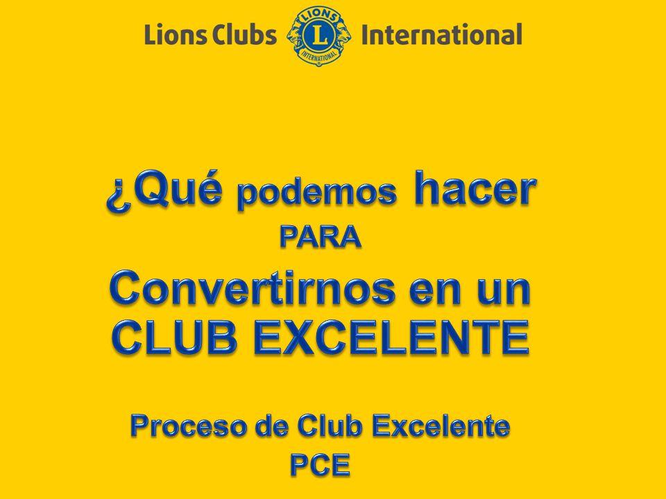 Convertirnos en un CLUB EXCELENTE Proceso de Club Excelente