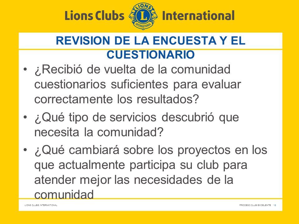 REVISION DE LA ENCUESTA Y EL CUESTIONARIO