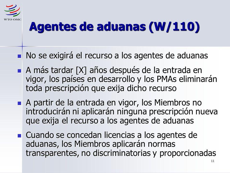 Agentes de aduanas (W/110)