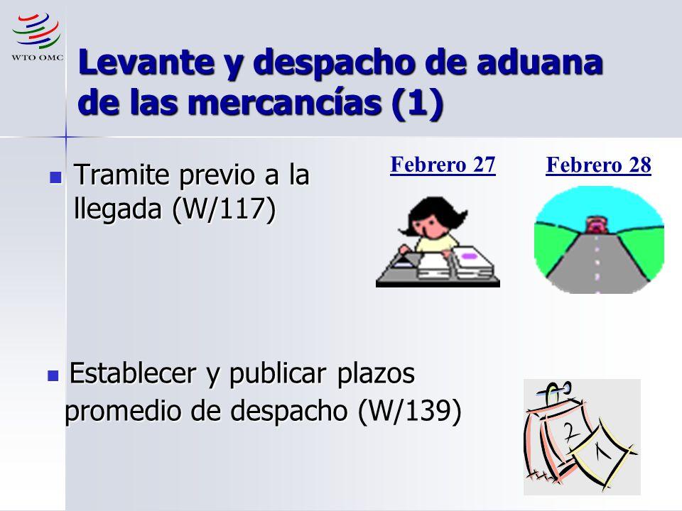 Levante y despacho de aduana de las mercancías (1)