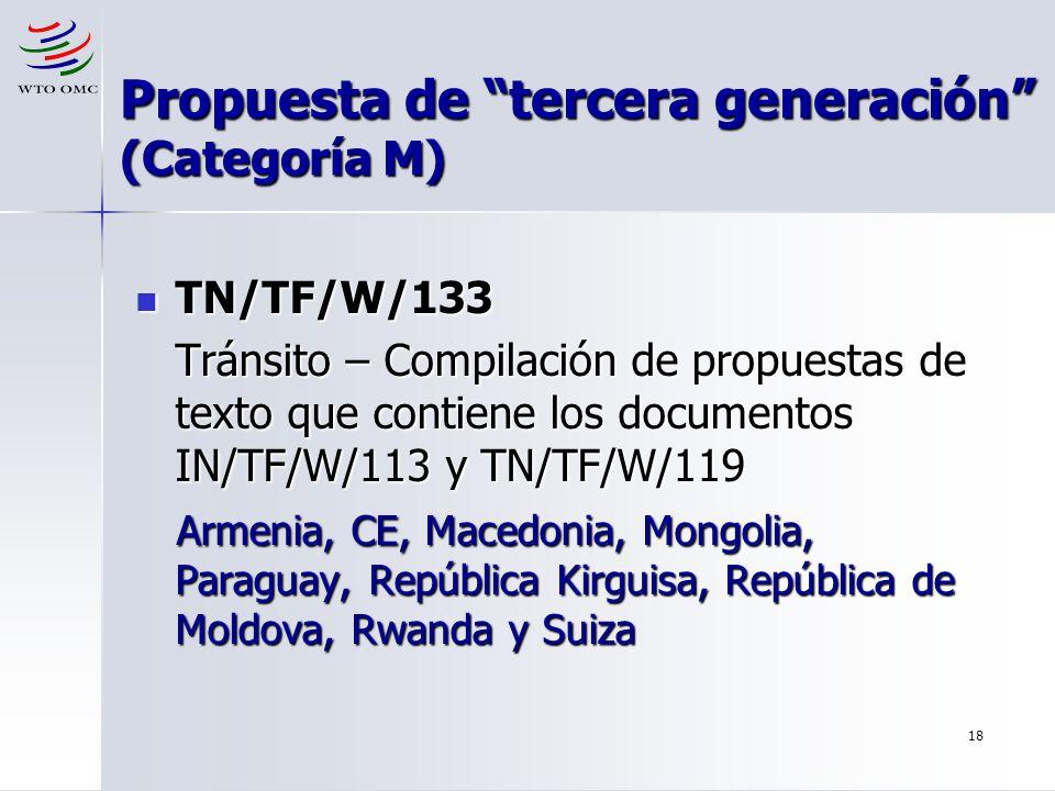 Propuesta de tercera generación (Categoría M)