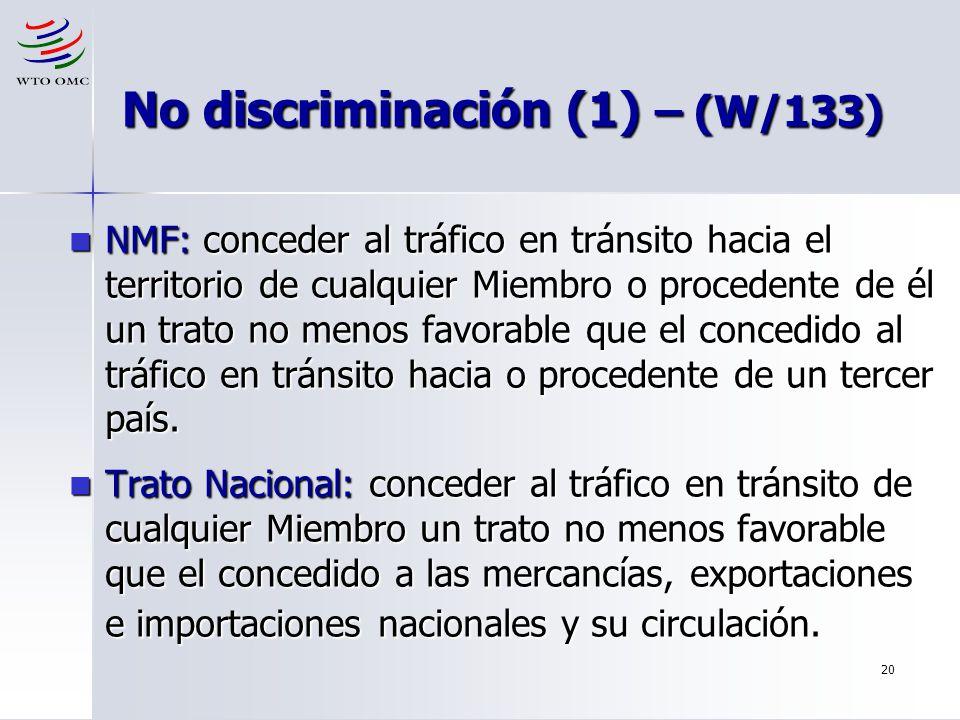 No discriminación (1) – (W/133)
