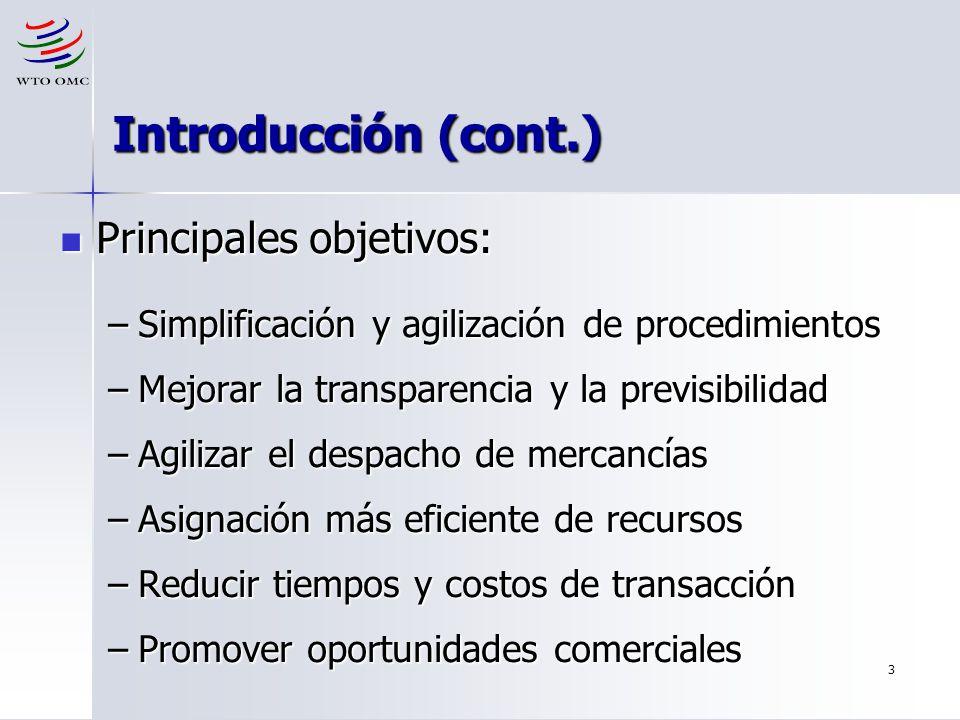 Introducción (cont.) Principales objetivos: