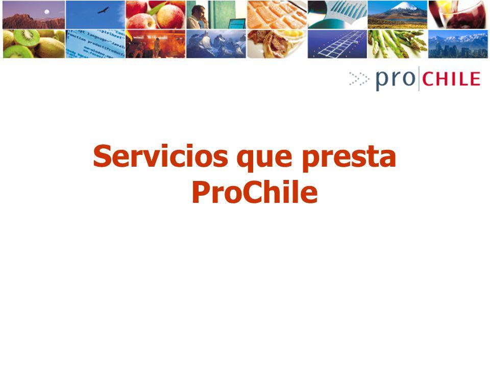Servicios que presta ProChile