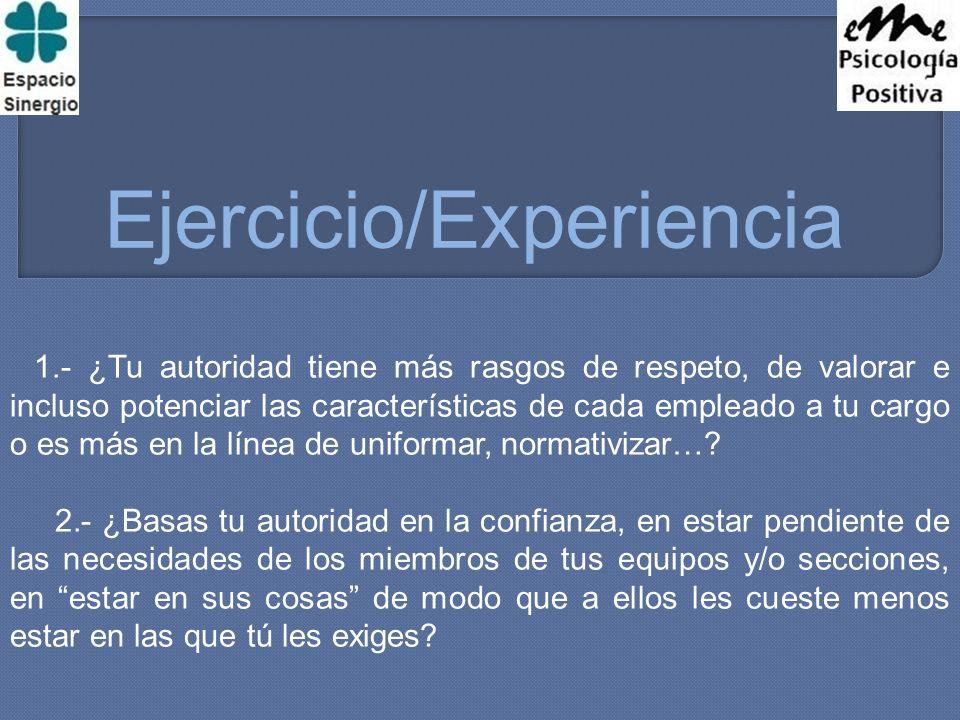 Ejercicio/Experiencia