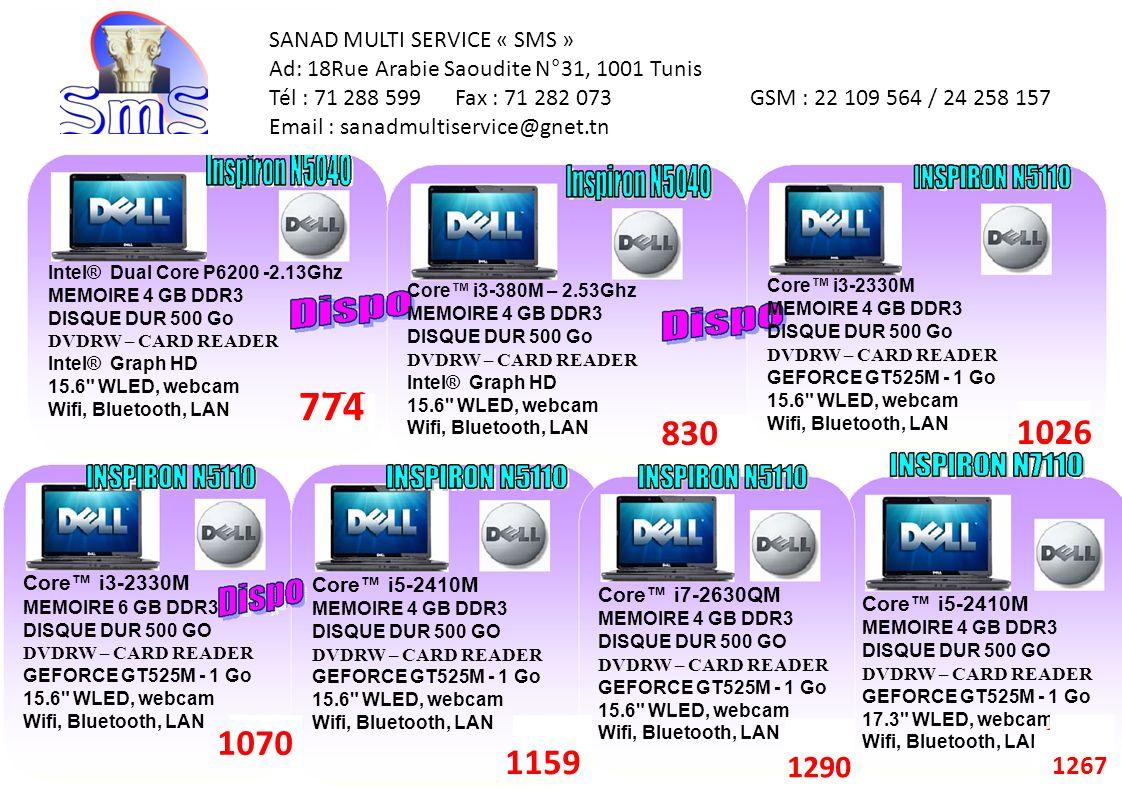 774 830 1026 1070 1159 1290 1290 1267 SANAD MULTI SERVICE « SMS »