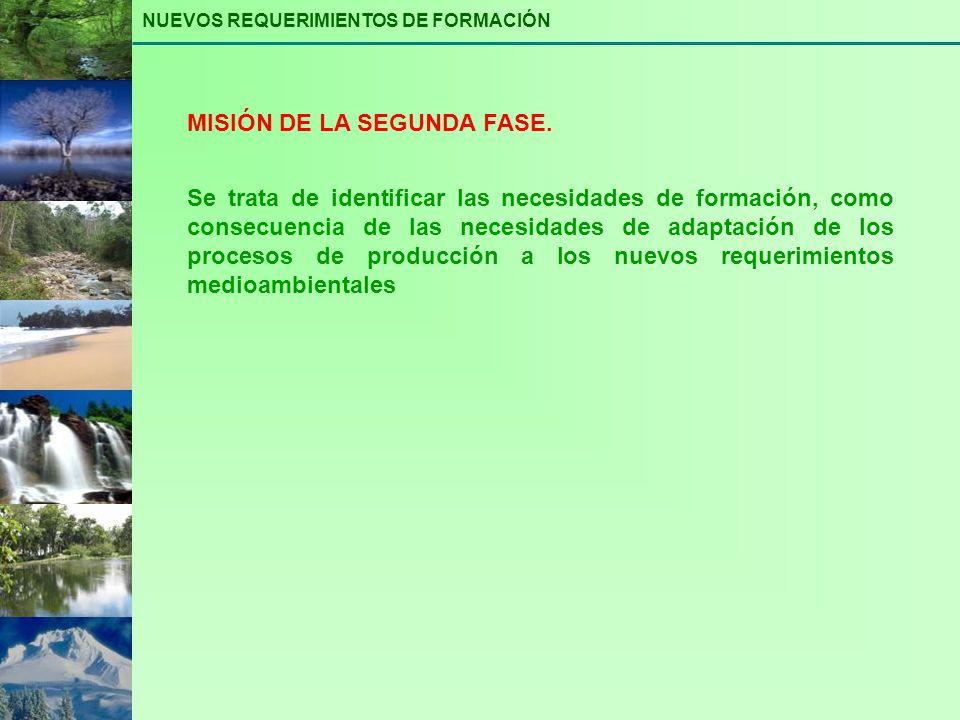 MISIÓN DE LA SEGUNDA FASE.