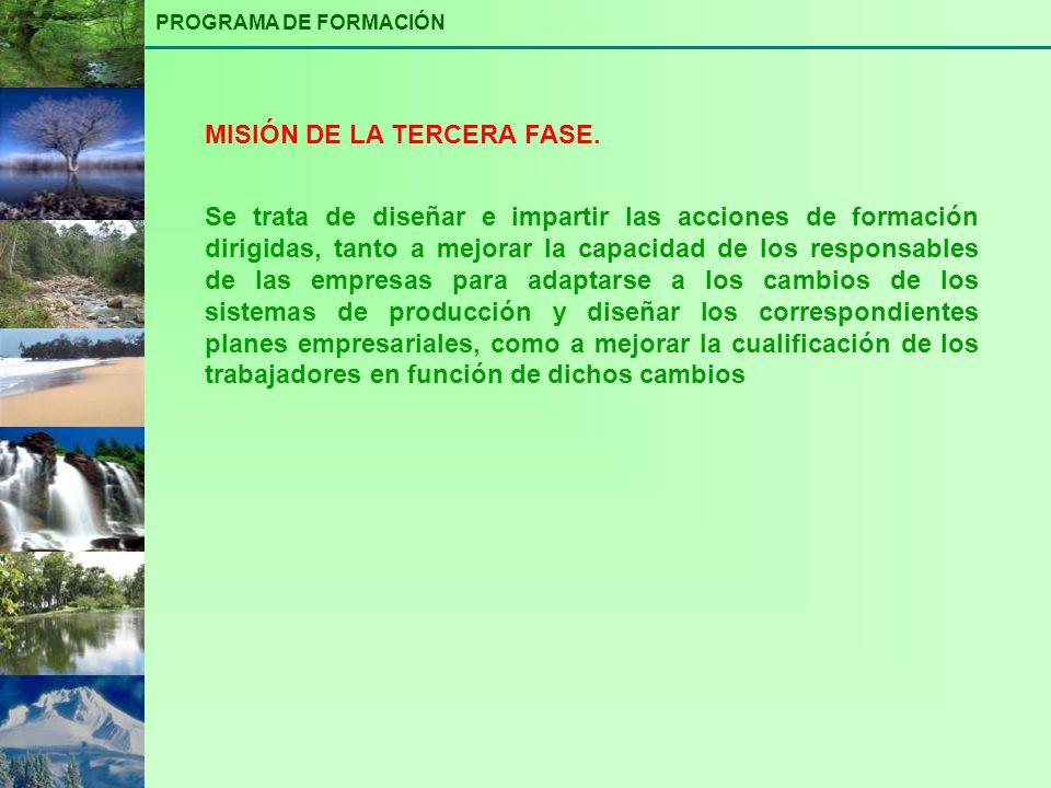 MISIÓN DE LA TERCERA FASE.