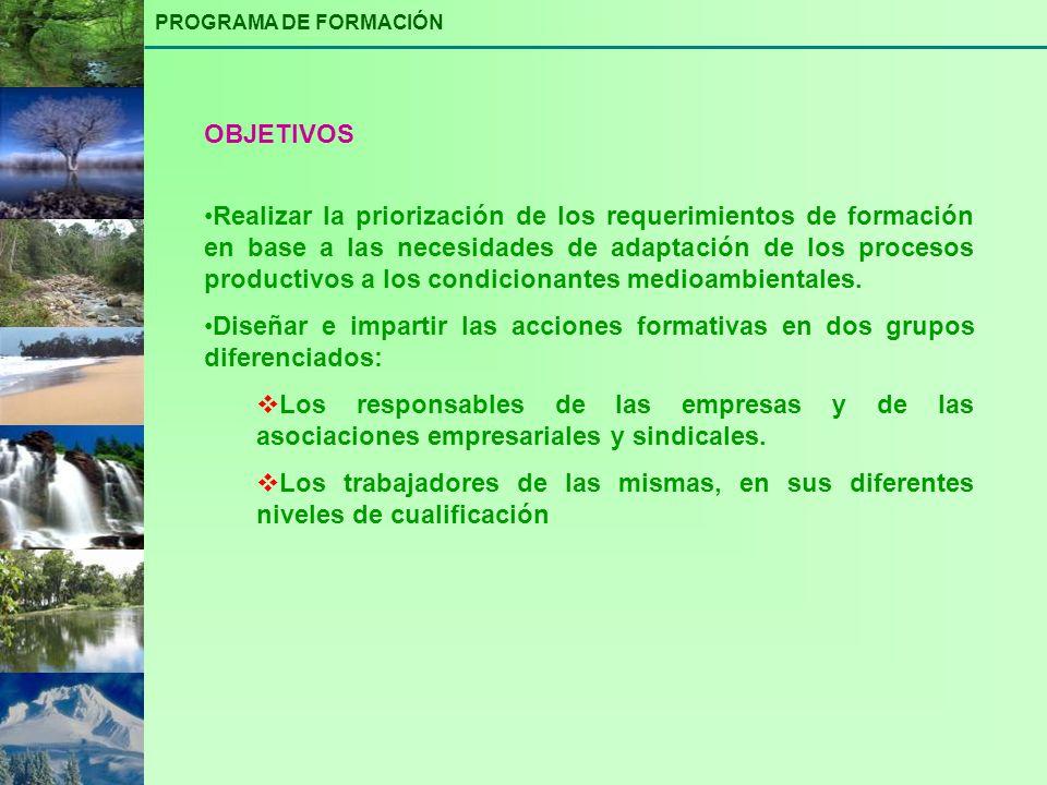 PROGRAMA DE FORMACIÓN OBJETIVOS.