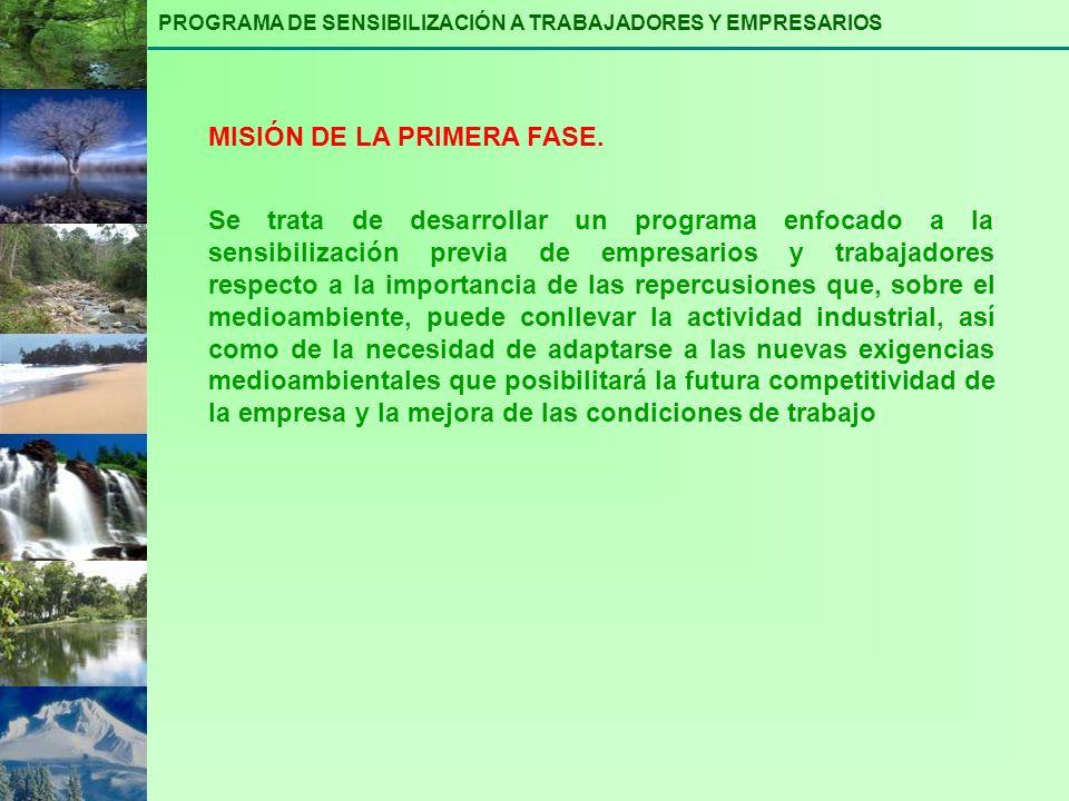 MISIÓN DE LA PRIMERA FASE.