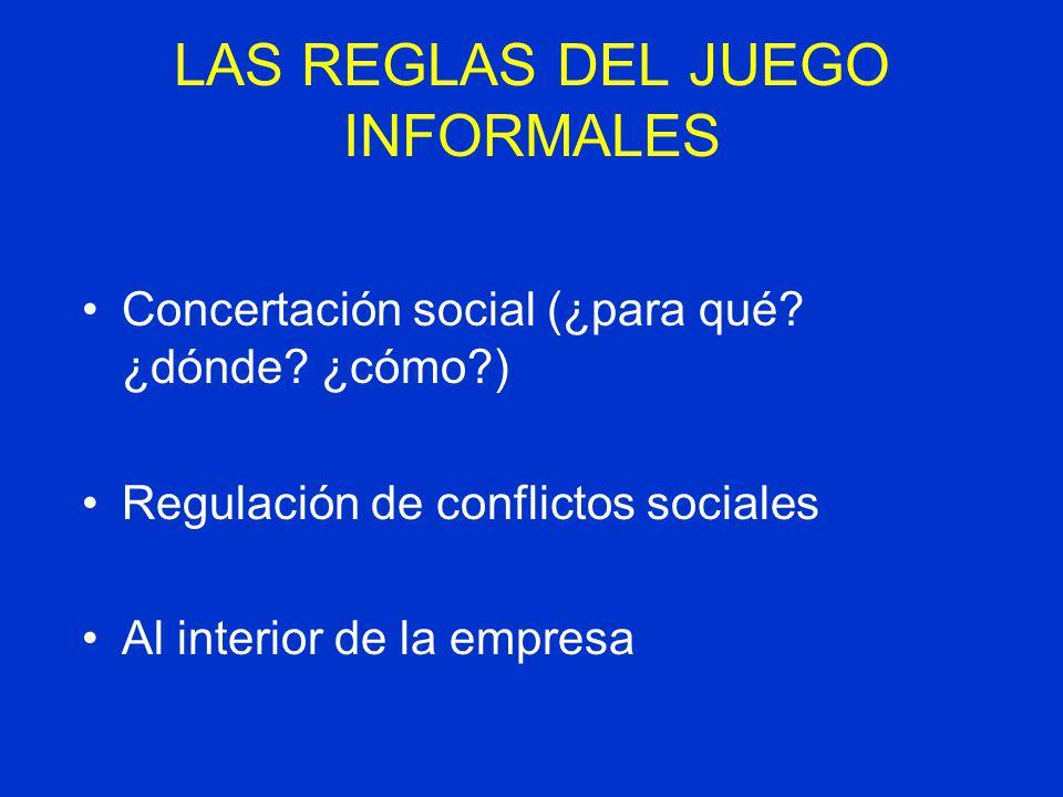 LAS REGLAS DEL JUEGO INFORMALES
