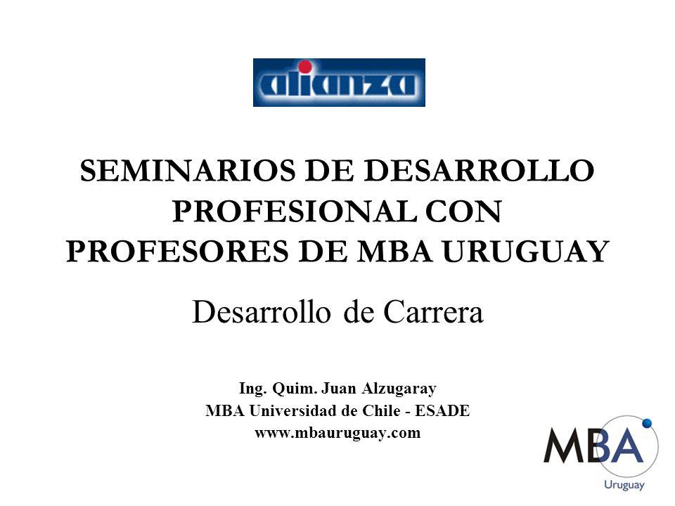 SEMINARIOS DE DESARROLLO PROFESIONAL CON PROFESORES DE MBA URUGUAY