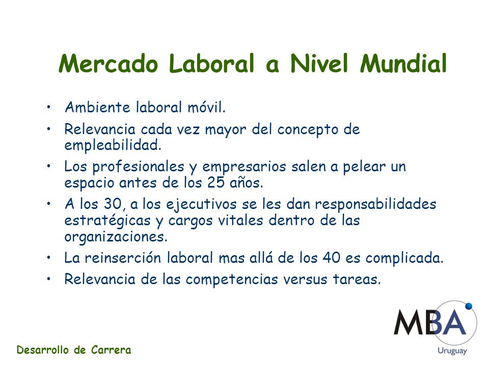 Mercado Laboral a Nivel Mundial