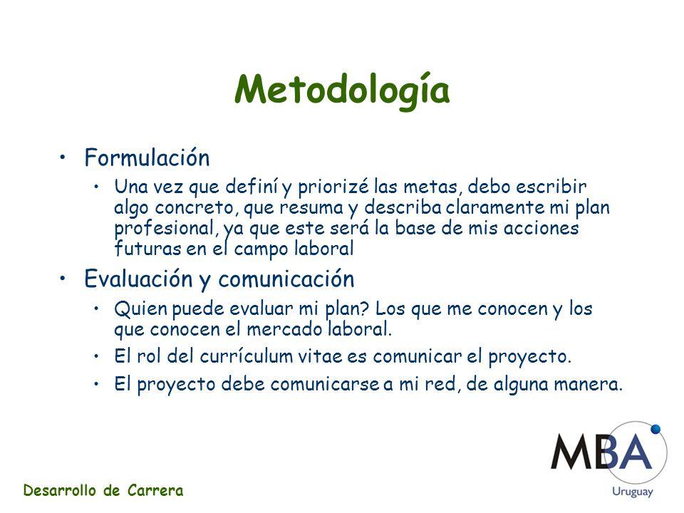 Metodología Formulación Evaluación y comunicación