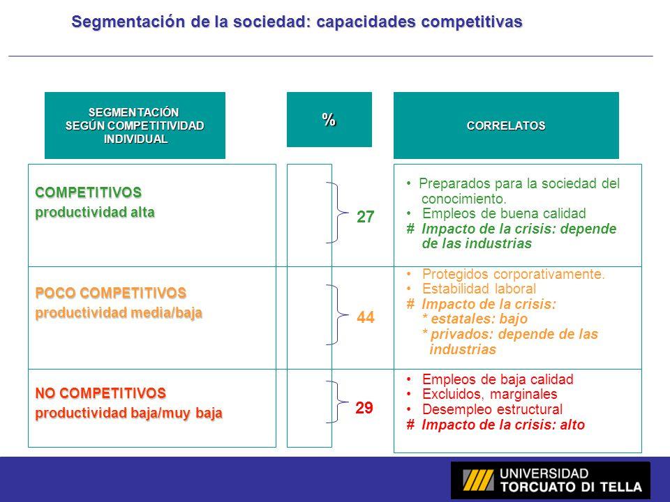 Segmentación de la sociedad: capacidades competitivas