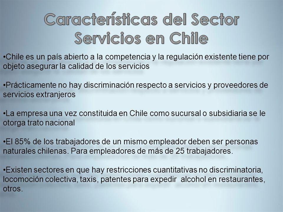 Características del Sector Servicios en Chile
