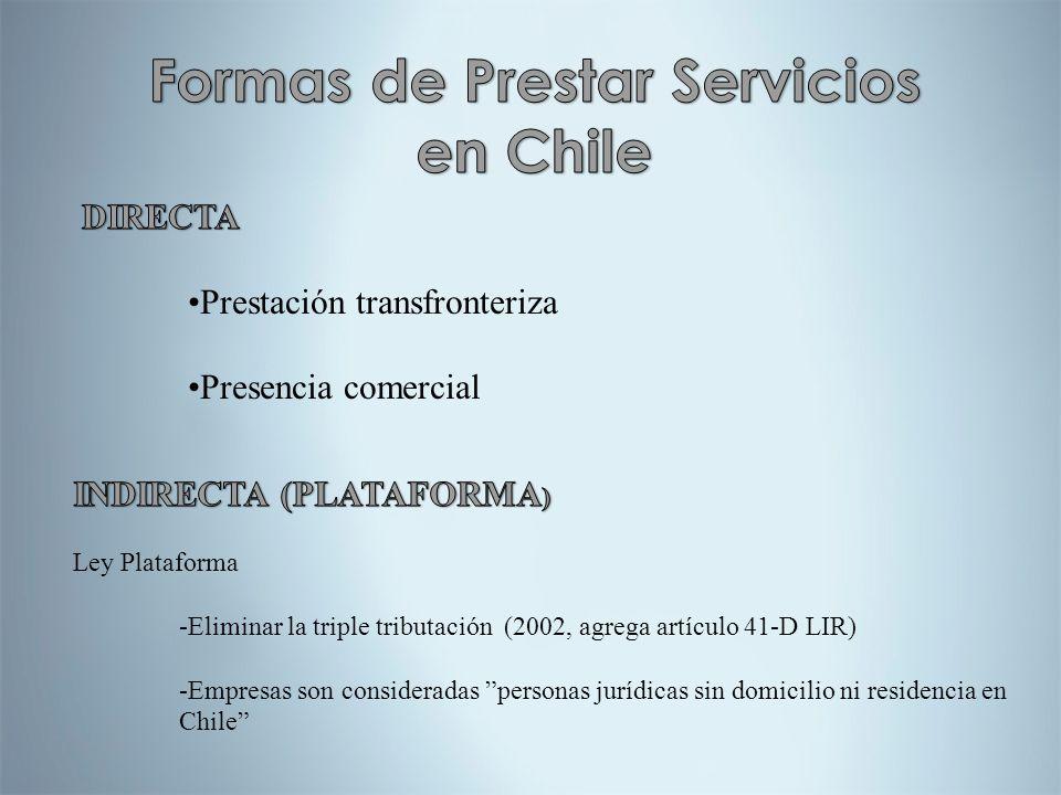 Formas de Prestar Servicios en Chile