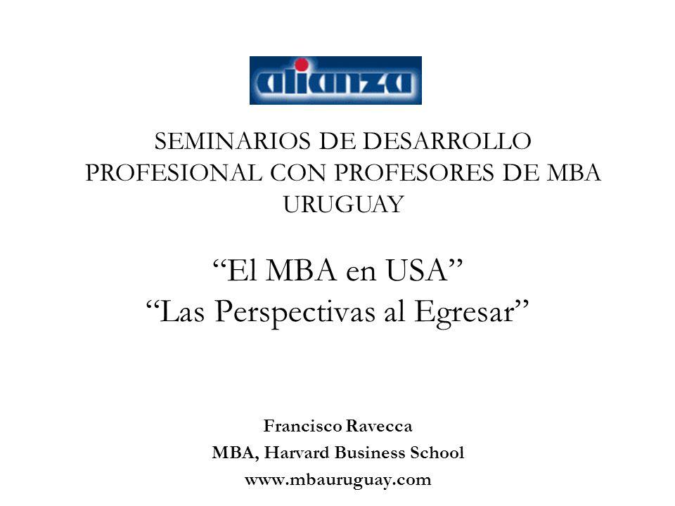El MBA en USA Las Perspectivas al Egresar