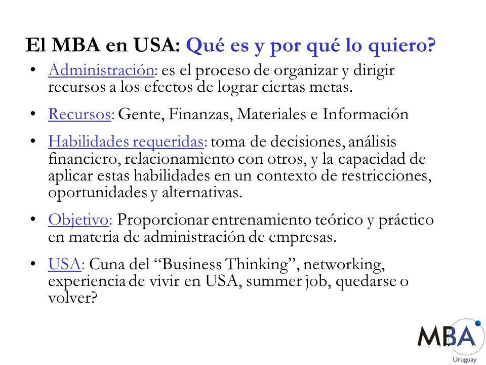 El MBA en USA: Qué es y por qué lo quiero