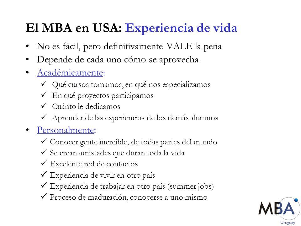 El MBA en USA: Experiencia de vida