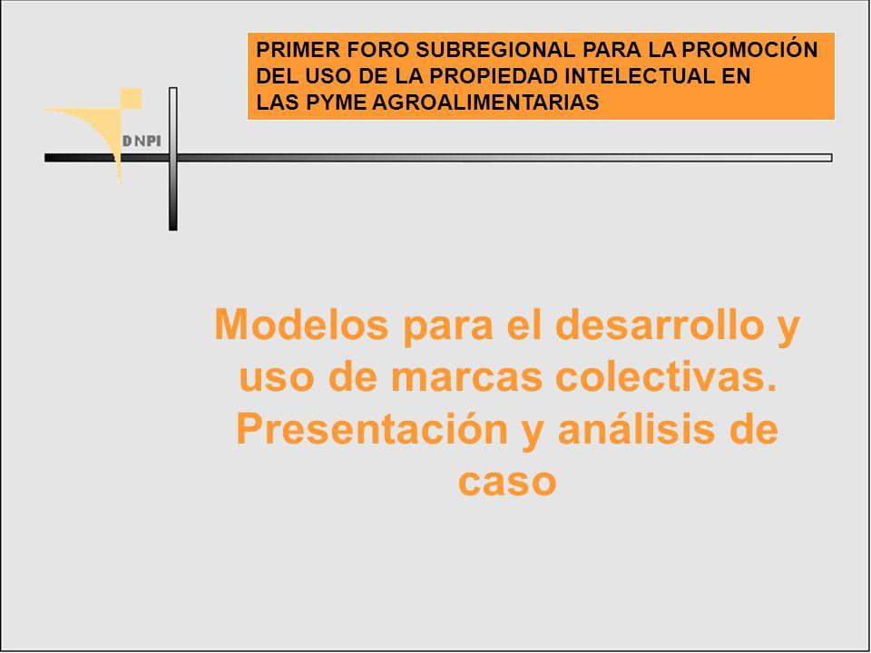 PRIMER FORO SUBREGIONAL PARA LA PROMOCIÓN DEL USO DE LA PROPIEDAD INTELECTUAL EN LAS PYME AGROALIMENTARIAS