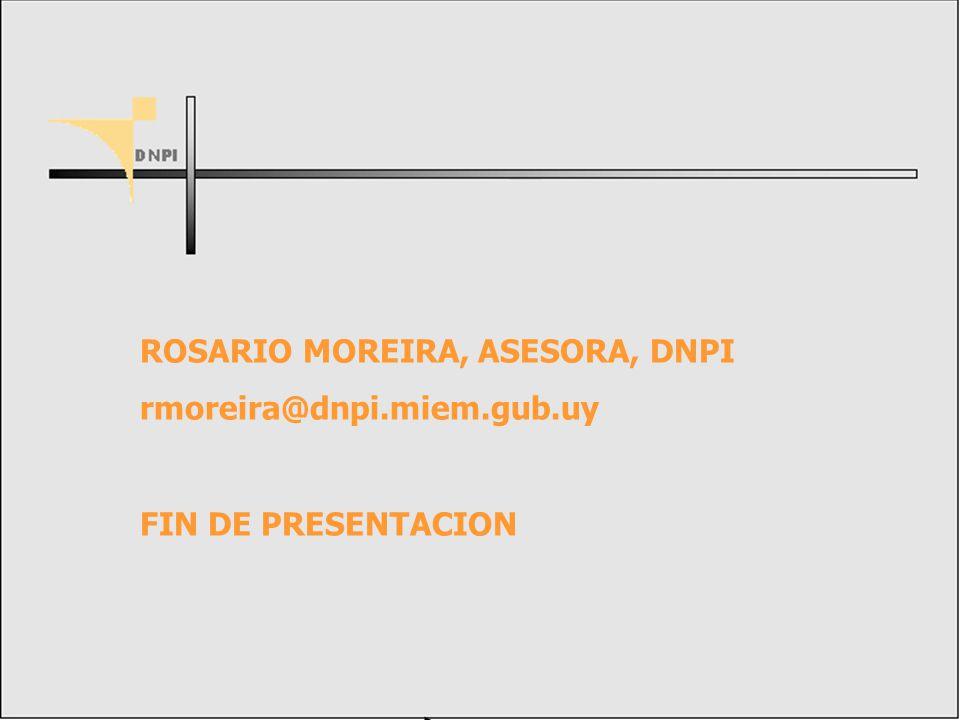 ROSARIO MOREIRA, ASESORA, DNPI