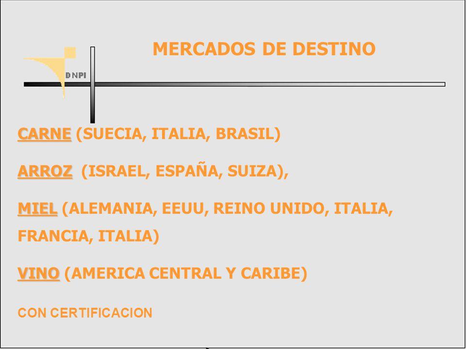 MERCADOS DE DESTINO CARNE (SUECIA, ITALIA, BRASIL)