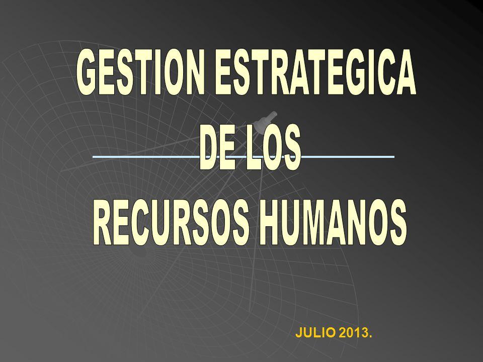 GESTION ESTRATEGICA DE LOS RECURSOS HUMANOS