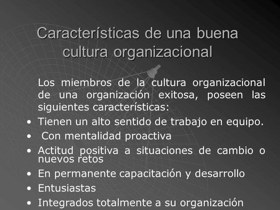 Características de una buena cultura organizacional