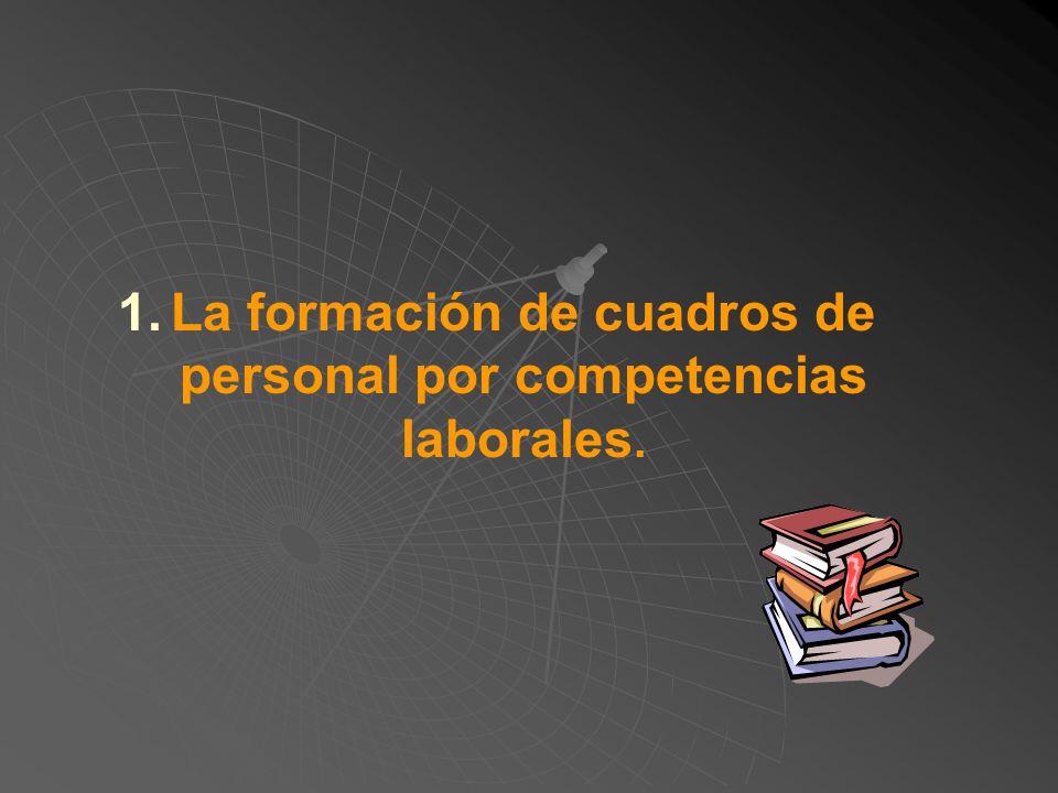 La formación de cuadros de personal por competencias laborales.