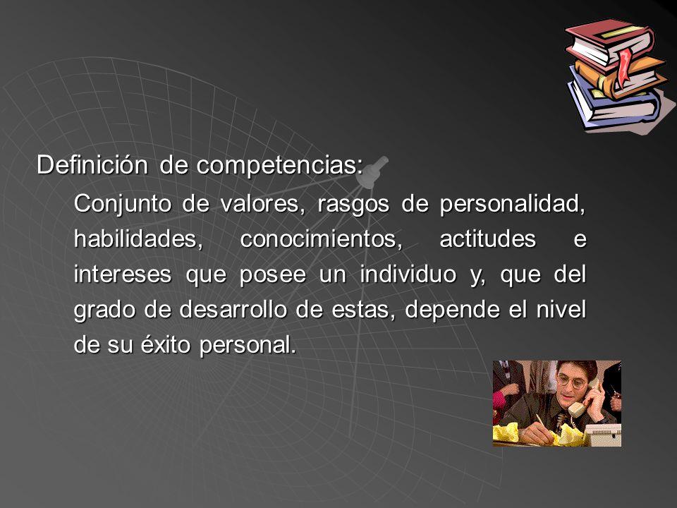 Definición de competencias: