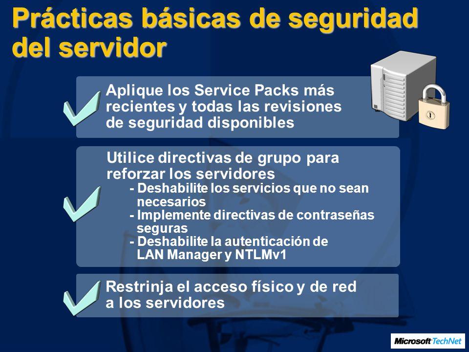 Prácticas básicas de seguridad del servidor